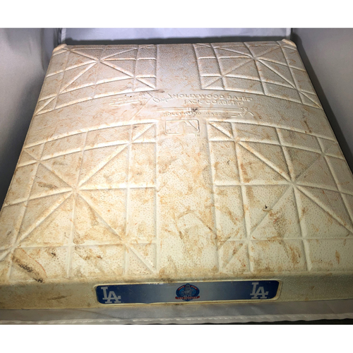 Photo of Game Used 1st Base - 9/23/18 vs the San Diego Padres (Used innings 1-9)