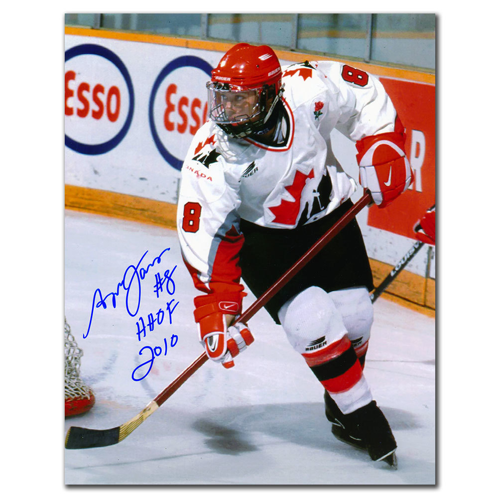 Angela James Team Canada HOF White Jersey Autographed 8x10