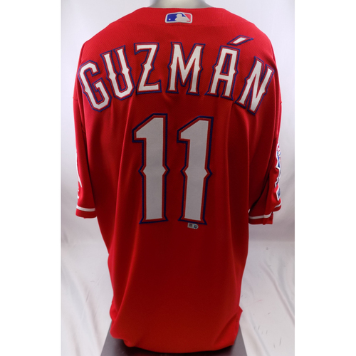 Photo of Red Game-Used Jersey - Ronald Guzman - 3/30/19