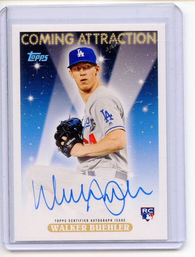 Photo of 2018 Topps Archives Coming Attraction Autographs Blue #CAWB Walker Buehler 07/99