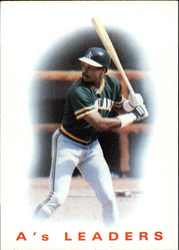Photo of 1986 Topps #216 A's Leaders/Dwayne Murphy
