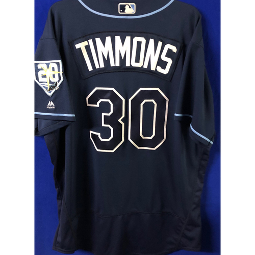 Photo of 20th Anniversary Game Used Jersey: Ozzie Timmons - September 29, 2018 v TOR
