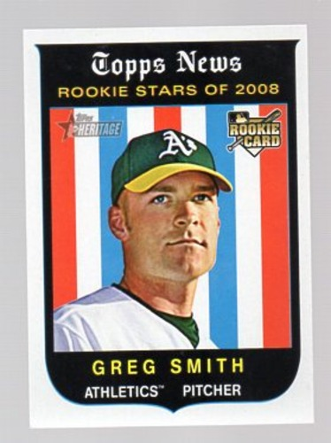 Photo of 2008 Topps Heritage #543 Greg Smith RC
