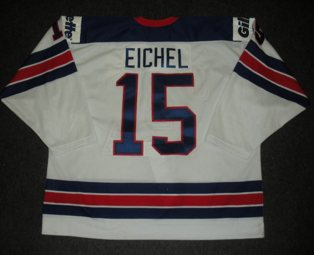 Jack Eichel - 2014 U.S. IIHF World Junior Championship - 1960 Throwback  Game-Worn Jersey 7bd59f5d6df