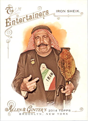 Photo of 2014 Topps Allen and Ginter #153 The Iron Sheik