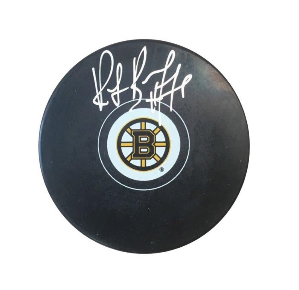Ray Bourque - Signed Puck Bruins