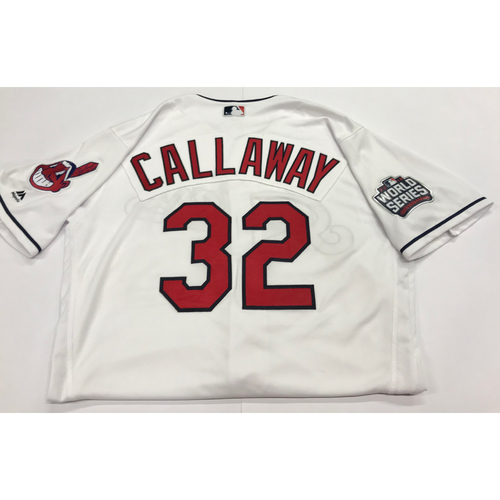 Photo of Mickey Callaway Team-Issued 2016 World Series Home Jersey