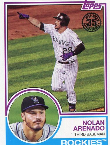 Photo of 2018 Topps '83 Topps #8358 Nolan Arenado