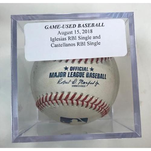 Photo of Game-Used Baseball: Jose Iglesias RBI Single and Nicholas Castellanos RBI Single