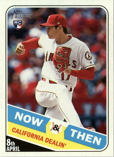 Photo of 2018 Topps Heritage Now and Then #NT11 Shohei Ohtani