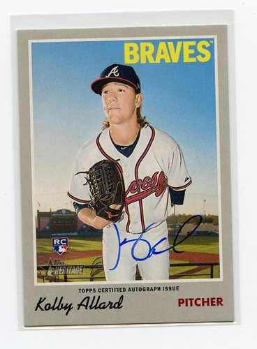 Photo of 2019 Topps Heritage Real One Autographs #ROAKA Kolby Allard