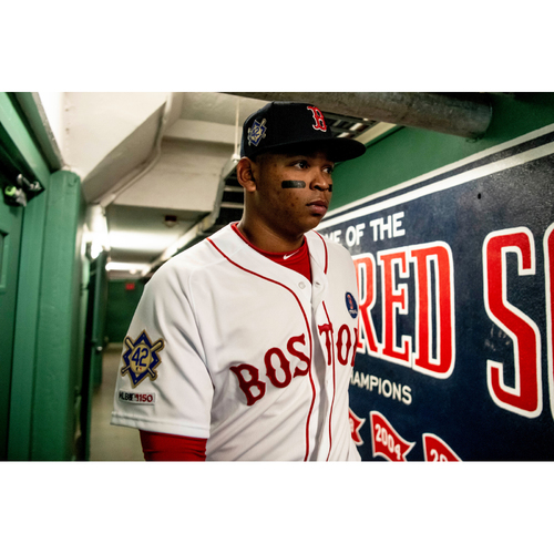Photo of Red Sox Foundation Jackie Robinson Day - Rafael Devers Game-Used and Autographed Jersey
