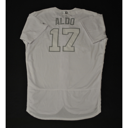 "Photo of Mike ""ALDO"" Aldrete Oakland Athletics Game-Used 2019 Players' Weekend Jersey"
