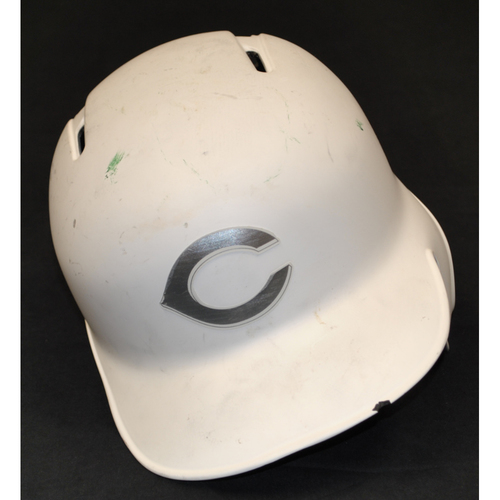 "Photo of Phillip ""MAGIC"" Ervin Cincinnati Reds Game-Used 2019 Players' Weekend Helmet"