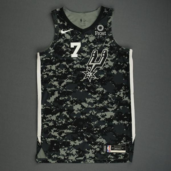 Image of Chimezie Metu - San Antonio Spurs - Game-Worn City Edition Jersey - 2019-20 Season - Dressed, Did Not Play
