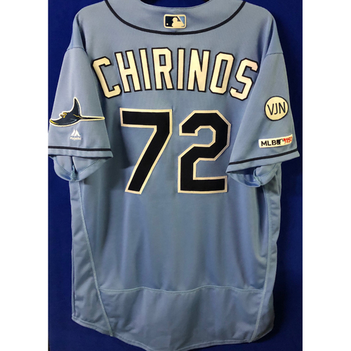 Game Used Jersey: Yonny Chirinos (W, 7.0 IP, 6 SO) - First Win of Season - March 31, 2019 v HOU
