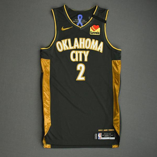 Image of Shai Gilgeous-Alexander - Oklahoma City Thunder - Game-Worn City Edition Jersey - 2019-20 Season