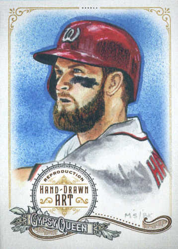 Photo of 2017 Topps Gypsy Queen Hand Drawn Art Reproductions #GQARBH1 Bryce Harper