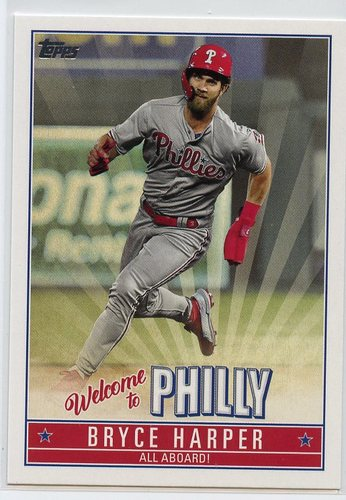 Photo of 2019 Topps Update Bryce Harper Welcome to Philly #BH6 Bryce Harper