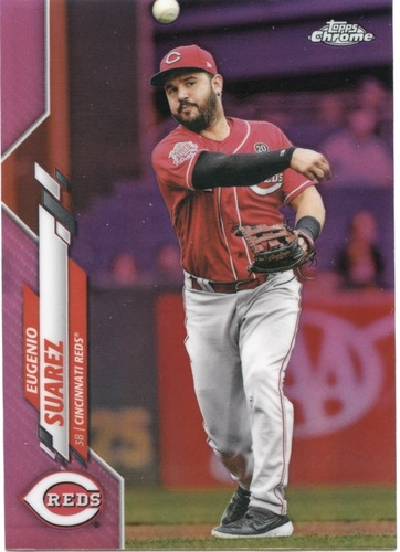 Photo of 2020 Topps Chrome Pink Refractors #128 Eugenio Suarez