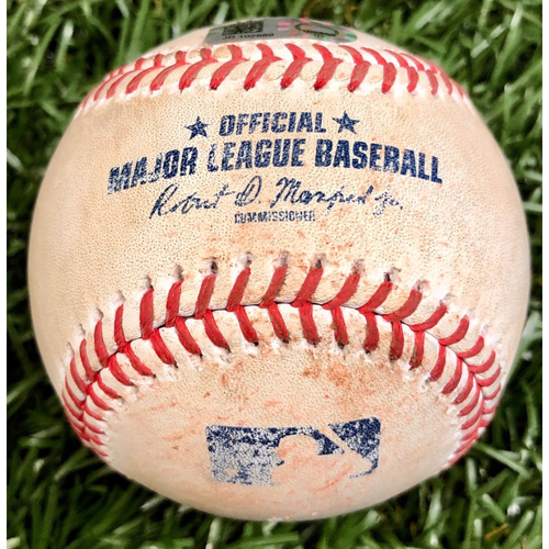 Game Used Baseball: Will Harris strikes out Joey Wendle - September 16, 2020 v WSH