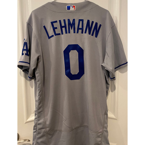 Photo of Danny Lehmann Authentic Game-Used Jersey from 8/16/20 Game vs LAA - Size  44