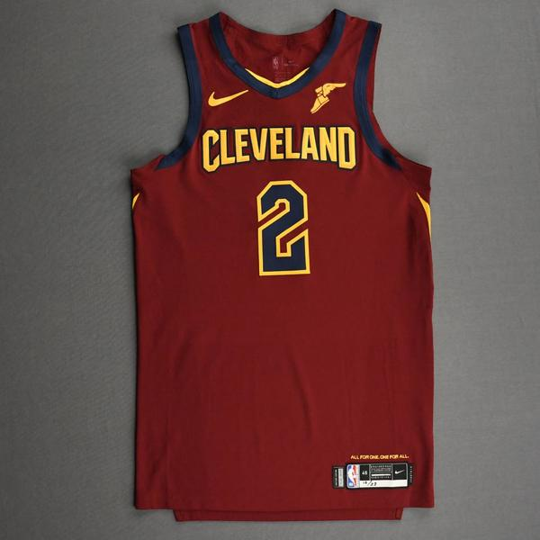 Image of Collin Sexton - Cleveland Cavaliers - Kia NBA Tip-Off 2020 - Game-Worn Icon Edition Jersey - Scored Team-High 27 Points