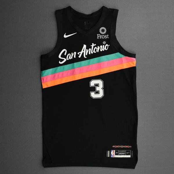 Image of Keldon Johnson - San Antonio Spurs - Kia NBA Tip-Off 2020 - Game-Worn City Edition Jersey