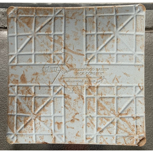 Photo of 2021 Phillies Game-Used 3rd Base - Alec Bohm HR, Rhys Hoskins HR, Mets Opening Day, Francisco Lindor Debut