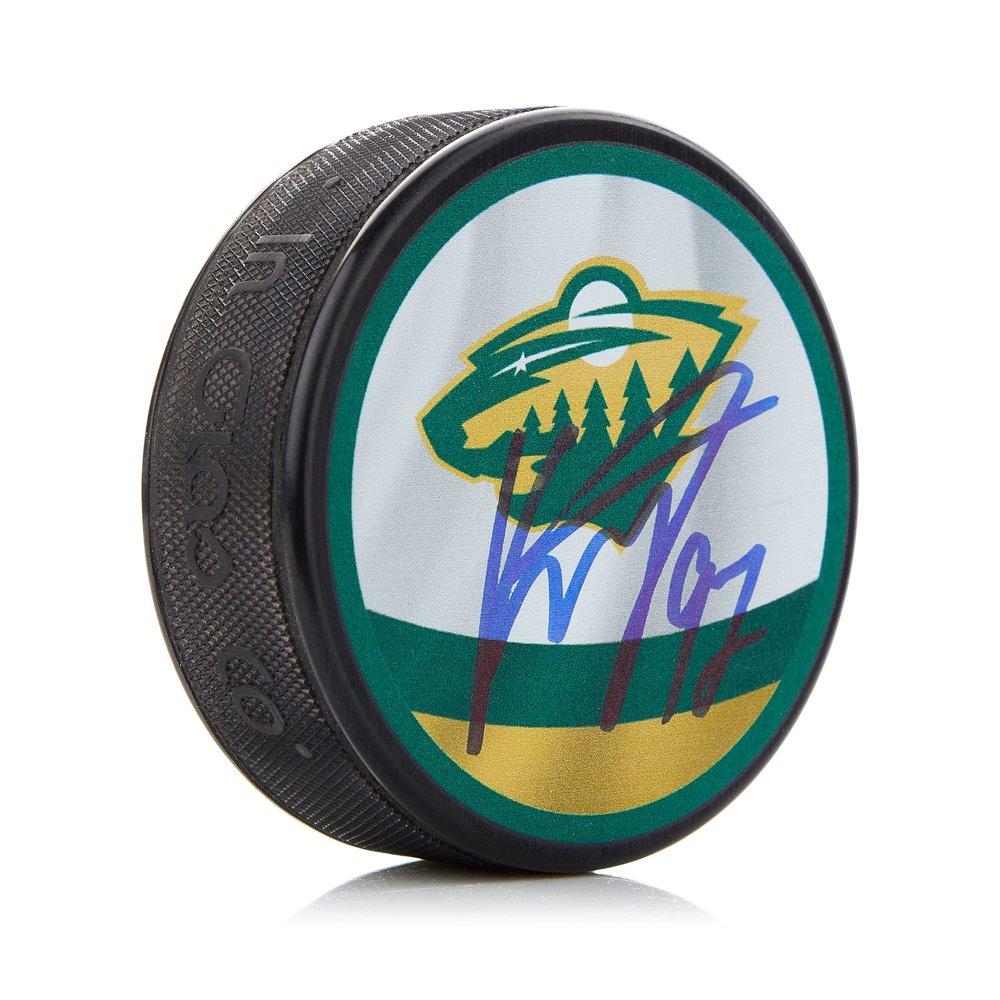 Kirill Kaprizov Minnesota Wild Autographed Reverse Retro Puck