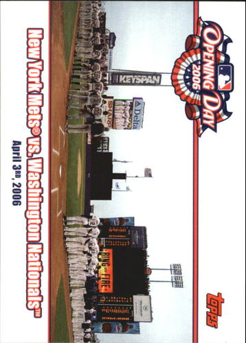 Photo of 2006 Topps Opening Day Team vs. Team #MN New York Mets vs. Nationals
