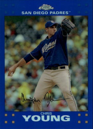 Photo of 2007 Topps Chrome Blue Refractors #148 Chris Young