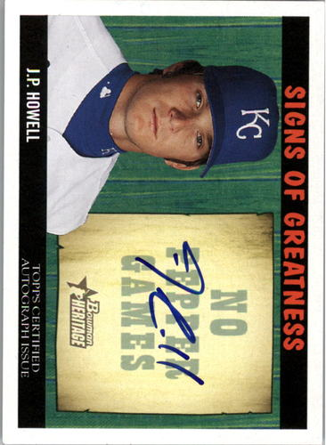 Photo of 2005 Bowman Heritage Signs of Greatness #JH J.P. Howell C