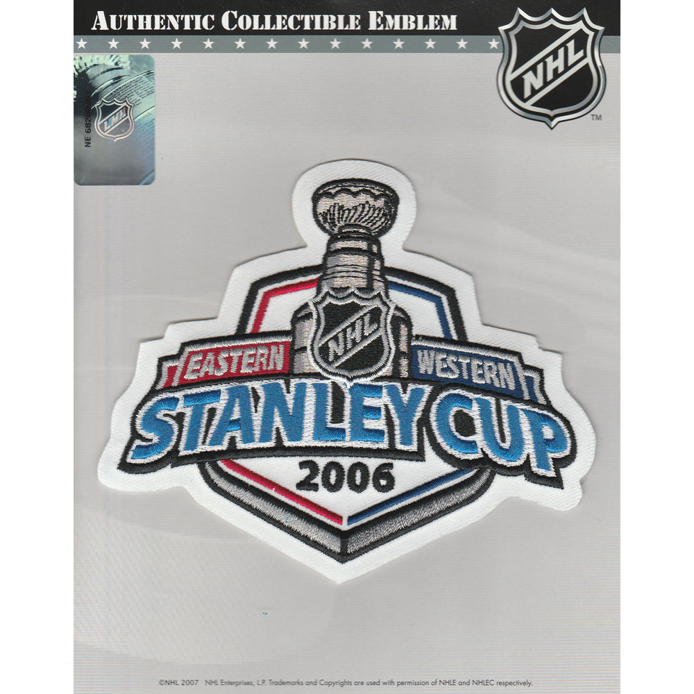 2006 NHL Stanley Cup Final Jersey Patch (Carolina Hurricanes vs. Edmonton Oilers)