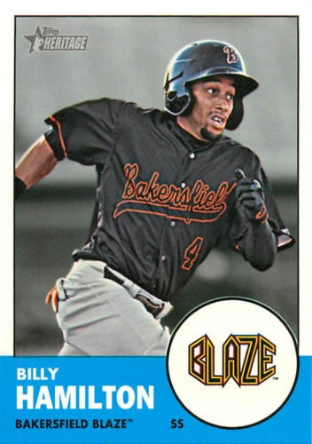 Photo of 2012 Topps Heritage Minors #10A Billy Hamilton