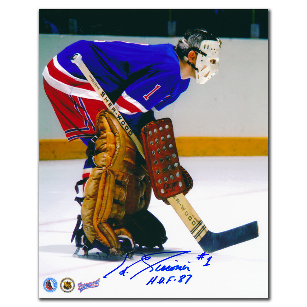 Ed Giacomin New York Rangers HOF Autographed 8x10