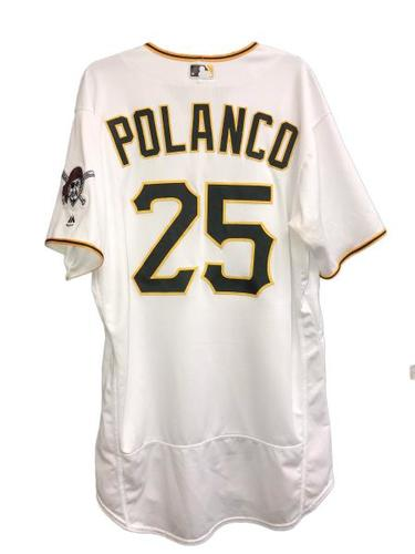Photo of Gregory Polanco Game-Used Jersey - 4 for 4, RBI, 2 R, SB