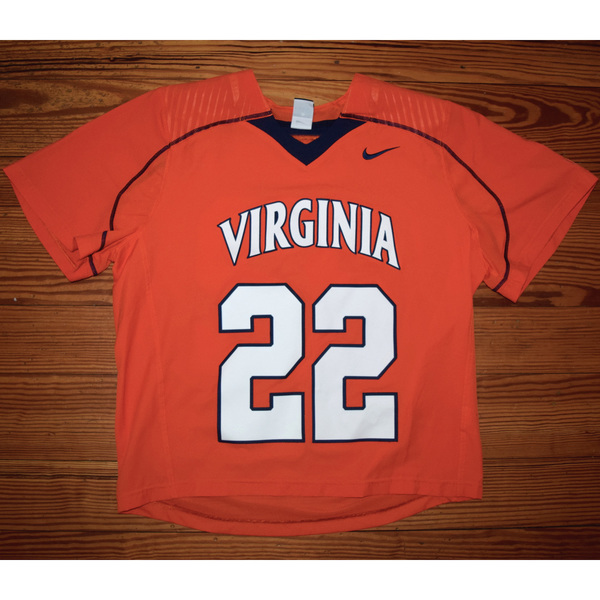 Photo of Game-Worn University of Virginia Men's Lacrosse Jersey: Orange #22