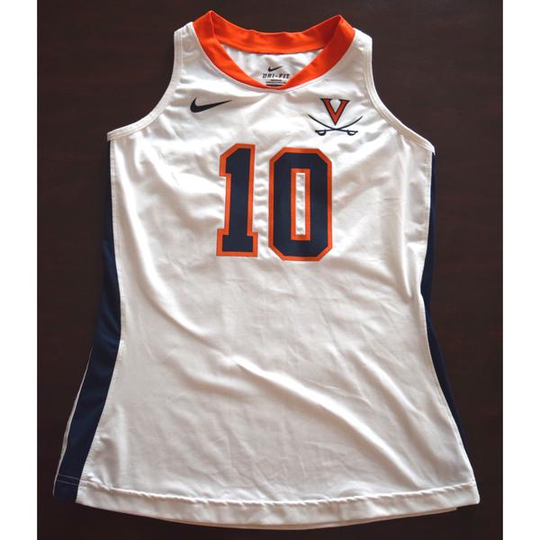 Photo of Game-Worn University of Virginia Field Hockey Jersey: White #10