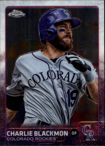 Photo of 2015 Topps Chrome #77 Charlie Blackmon