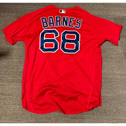 Photo of Boston Red Sox Matt Barnes 2016 Game-Used Spring Training Jersey