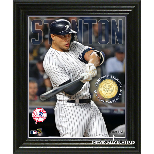 Photo of Giancarlo Stanton Elite Series Bronze Coin Photo Mint