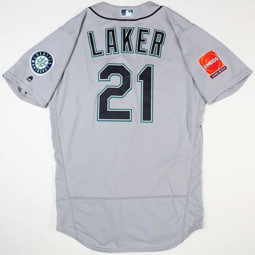 Photo of 2019 Japan Opening Day Series - Game Used Jersey - Tim Laker, Seattle Mariners at Oakland Athletics -3/20/2019