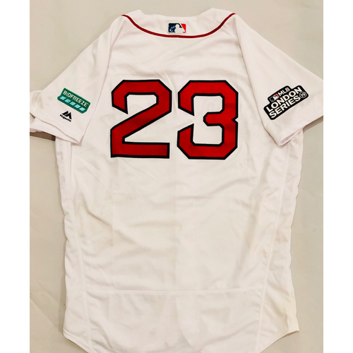 Photo of 2019 London Series - Game-Used Jersey - Michael Chavis, New York Yankees vs Boston Red Sox - 6/29/19