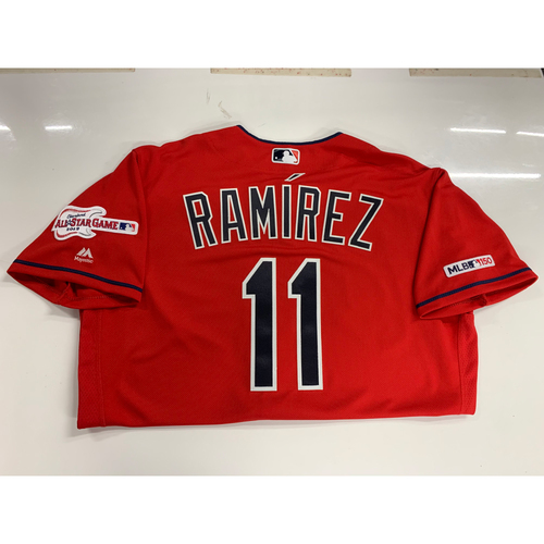 Photo of Jose Ramirez 2019 Team Issued Alternate Home Jersey with ASG Patch