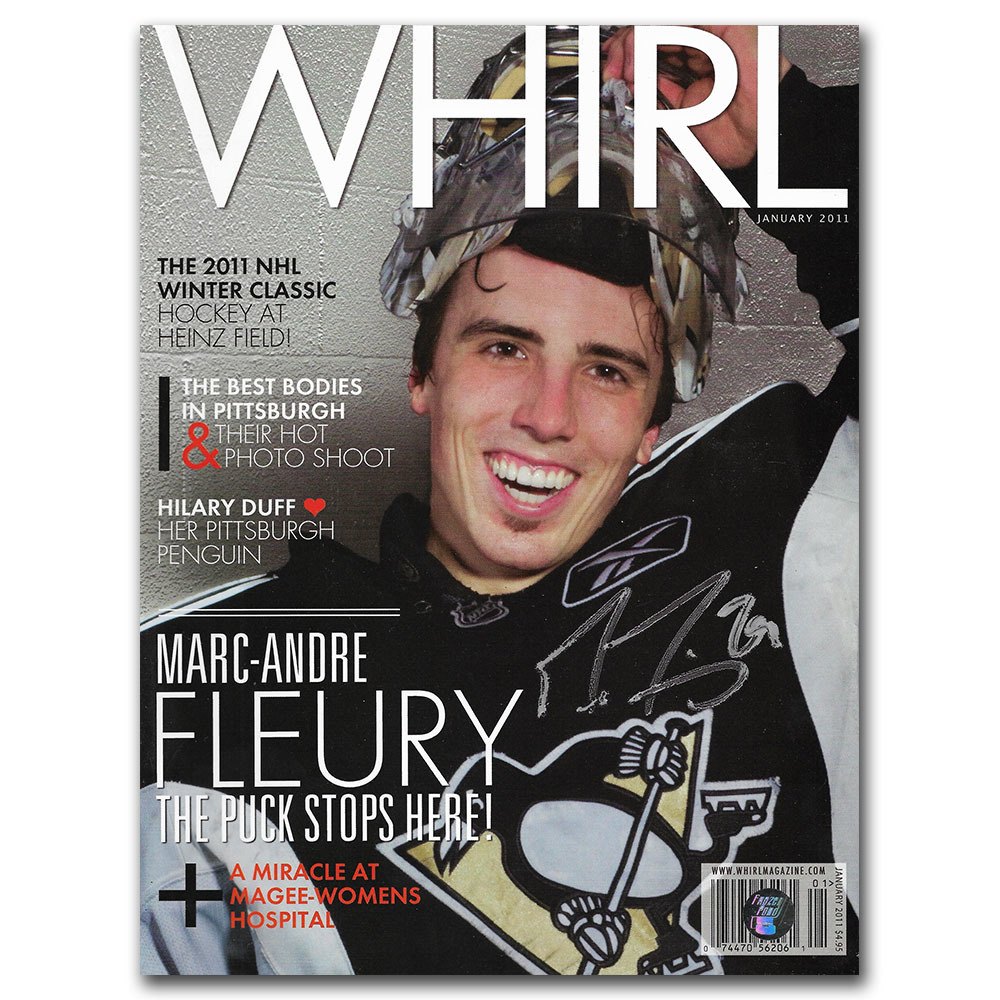 Marc-Andre Fleury Autographed Whirl Magazine