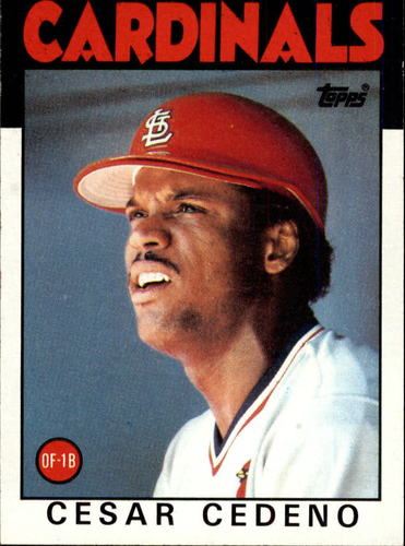 Photo of 1986 Topps #224 Cesar Cedeno