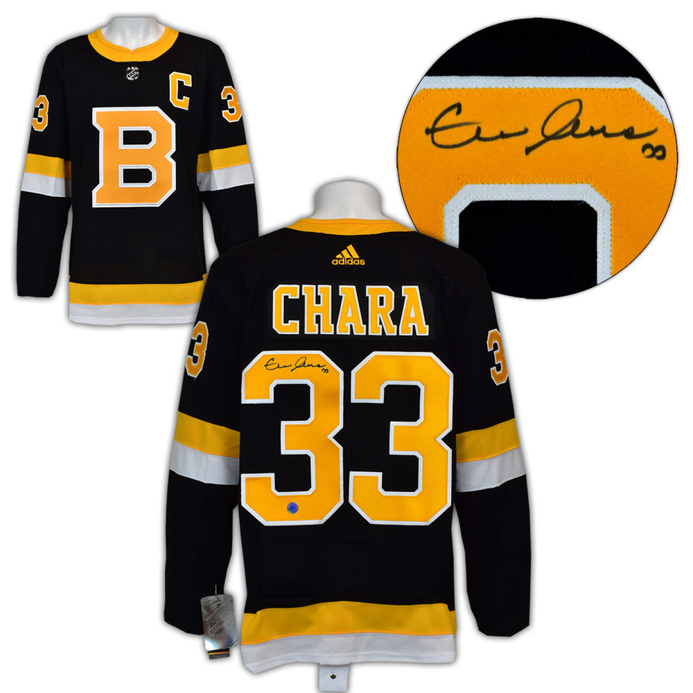 Zdeno Chara Boston Bruins Autographed Alternate Adidas Authentic Hockey Jersey
