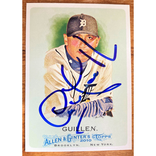 Photo of Carlos Guillen Autographed Detroit Tigers 2010 Allen & Ginter's Baseball Card (NOT MLB AUTHENTICATED)