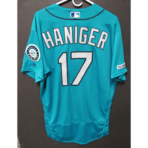 Photo of Mitch Haniger Team-Issued Green Jersey
